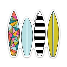 "3"" Surfboards Vinyl Sticker"
