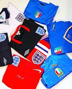 England vs. Italy: ready for the Euro 2020 Final #england #itscominghome #englandteam #italy #italia #vintage #final #euro2020 #euro2020final #footballshirt #threelions #azzurri #soccerjersey #jersey #maglia England Euro 2016, England Top, Euro 1996, Euro 2012, Crawley Town Fc, Ukraine News, World Cup Winners, National Football Teams, Goalkeeper