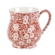 Red Calico Sandringham Mug. Buy Blue and White China from the Secure Burleigh Online Shop