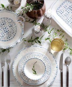 Vietri Mosaico Blu Dinnerware