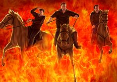 Horses ride through fire to mark Spanish festival of patron saint of animals