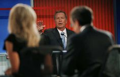 Republican 2016 U.S. presidential candidate and Ohio Governor John Kasich answers a question at the first official Republican presidential candidates debate of the 2016 U.S. presidential campaign in Cleveland, Ohio, August 6, 2015. REUTERS/Brian Snyder -