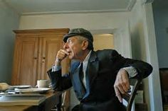 Poet Leonard Cohen sits down for lunch at his home in Montreal ...