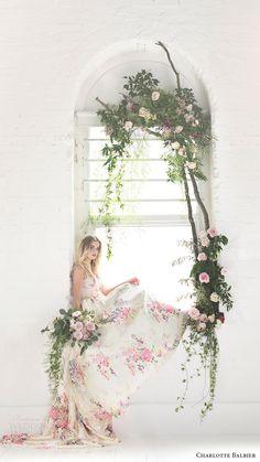 CHARLOTTE BALBIER bridal 2017 sleeveless vneck ball gown wedding dress (untamed love) sv floral print multicolor #bridal #wedding #weddingdress #weddinggown #bridalgown #dreamgown #dreamdress #engaged #inspiration #bridalinspiration #weddinginspiration #weddingdresses #romantic