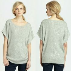Haute Hippie Sequin Dolman Sweatshirt Dolman sweatshirt of sumptuous silk and cotton, artfully adorned by glimmering sequins. Wide roundneck short dolman sleeves ribbed hem. Condition: Excellent, lightly worn. A few sequins are missing and very minimal sequins loose. Completely unnoticeable!! Silk/cotton. Made in USA. Color: Grey Silver  NO TRADES! Haute Hippie Tops