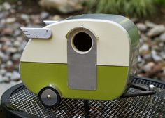 Vintage Camper Birdhouse by jumahl on Etsy, $60.00