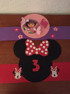 Dora en mini mouse kroon