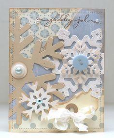 snowflake card design