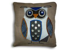 Hand made uniquely designed applique owl by Jillygriffindesigns