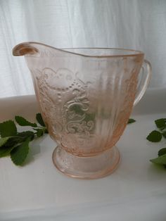 Hey, I found this really awesome Etsy listing at https://www.etsy.com/listing/200376092/pink-depression-glass-creamer-vintage
