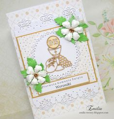 Emilia tworzy: Pierwsza Komunia Święta/Kartka komunijna/Card for Holy Communion