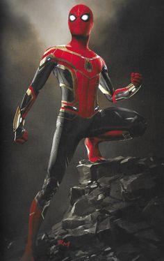 "Spider-Man: Far From Home gave Peter Parker a spectacular new red and black costume for the sequel's final battle and we now have concept art revealing some alternate versions of that ""Upgraded Suit. Marvel Comics, Marvel Art, Marvel Heroes, Marvel Avengers, All Spiderman, Spiderman Kunst, Amazing Spiderman, Marvel Concept Art, Rock Poster"