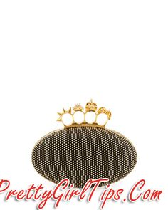 @prettygirltips Alexander McQueen Studded Oval Knuckle Clutch Bag