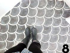 Emily & Aaron's Condo: Tiles Tiles Tiles! — Renovation Diary Concrete floor tile. ASK UNCLE JOE!!
