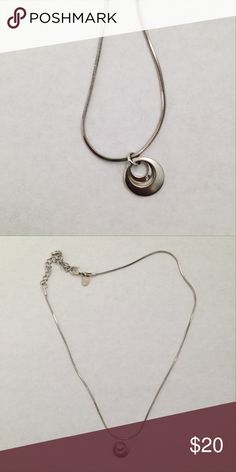 """Simple sliver necklace Simple silver necklace. 15""""-18"""". In great condition! Go ahead and comment with questions or make an offer! Lia Sophia Jewelry Necklaces"""