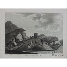 Illustration by S Hooper, Engraving by Sparrow Published March 1789 by S Hooper Bookplate print from a Century publication Unmounted / Unframed Vintage Prints, Retro Vintage, St Anthony's, Future Tattoos, Edinburgh, 18th Century, Tattoo Ideas, Saints, March