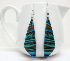 Rainbow Jasper Earrings  Multicolor by AVeryCoolEarringShop