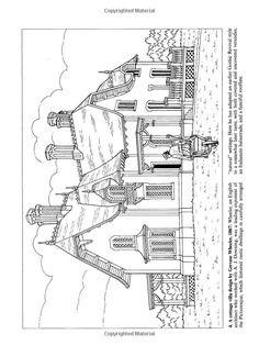 Victorian House Coloring Page | Victorian Houses (Dover History Coloring Book) | Coloring/Embroidery ...