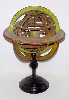 Delamarche et Cie (attributed to)  Ptolemaic Armillary Sphere  Paris: Mid 19th Century  Pasteboard, applied engraved paper  25 inches high