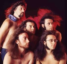 1971: Classic Rock's Classic Year - Deep Purple, cover shoot for 1971's Fireball. Have mercy.