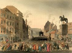 Pillory Charing Cross. Funnily enough I was just writing a scene about a character passing through Charing Cross.