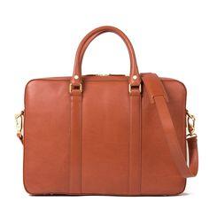 Soft Briefcase - Cognac