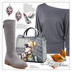 """Gray autumn"" by duma-duma ❤ liked on Polyvore featuring Burberry, Fall and gray"