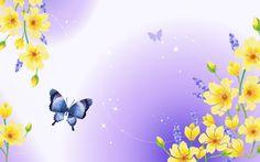 Free Art wallpaper - Drawing beautiful scenery computer 1 wallpaper - wallpaper - Index 9 Blue Butterfly Wallpaper, Butterfly Background, Butterfly Clip Art, Butterfly Pictures, Pink Butterfly, Flower Wallpaper, Butterflies, Free Desktop Wallpaper, Wallpaper Pc