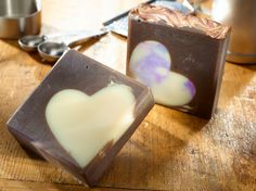 Wine and Chocolates Handmade Hearts Soap by RoguePolish on Etsy