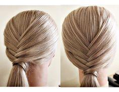 elegant ponytail, hairstyle