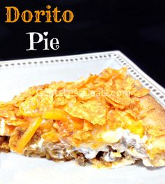 Dorito Pie recipe. I've been looking everywhere for this!! This is crazy delicious, especially if you add salsa! This is going into the weekly rotation....