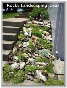28 awesome front yard rock garden landscaping ideas DIY Garden Yard Art When growing your own lawn y Rockery Garden, Sloped Garden, Xeriscaping, Gravel Garden, Garden Arbor, Garden Water, Terrace Garden, Landscaping With Rocks, Front Yard Landscaping