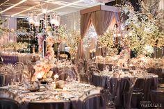 A Spring dream designed by #RachelAClingen in our Aria Ballroom. | Photography: Ikonica | #fourseasons #Toronto #weddings #fsweddings #bridal #springwedding #spring #cherryblossom