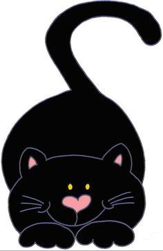 Cool Cats, I Love Cats, Silhouette Chat, Image Chat, Cat Quilt, Cute Clipart, Cat Crafts, Cat Drawing, Cat Art