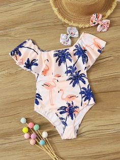 To find out about the Girls Random Flamingo Print Flounce One Piece Swimsuit at SHEIN, part of our latest Girls Swimwear ready to shop online today! Little Girl Outfits, Outfits For Teens, Cute Outfits, Stylish Baby Clothes, Cute Baby Clothes, Baby Girl Swimsuit, Girls Bathing Suits, Kids Swimwear, Cute Swimsuits