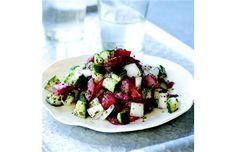 Fresh tangy tomato and cucumber salad in a moment. #persiancooking #salad #tomatocucumbersalad #louisshafia #thenewpersiankitchen