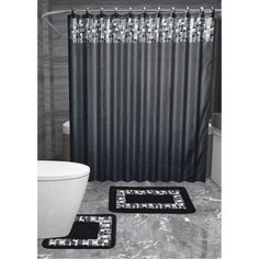 Country Decor, French Country Decor, Rustic Decor - What Is Your Style? Mosaic Bathroom, Bathroom Sets, Bathroom Design Small, Bathroom Designs, Bath Mats, French Country Decorating, Fabric Shower Curtains, Exterior Paint, Fabric Covered