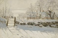 "Claude Monet Snow Scene: ""The Magpie"" 1869"