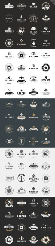 160 Vintage logotypes and badges by Vasya Kobelev on Creative Market