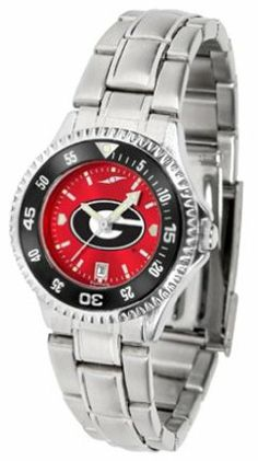 Georgia Bulldogs Competitor AnoChrome Ladies Watch with Steel Band and Colored Bezel by SunTime. $91.67. Showcase the hottest design in watches today! The functional rotating bezel is color-coordinated to compliment the Georgia Bulldogs logo. The Competitor Steel utilizes an attractive and secure stainless steel band.The AnoChrome dial option increases the visual impact of any watch with a stunning radial reflection similar to that of the underside of a CD. Perceived val...