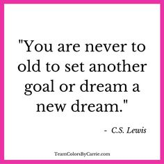 Are you still setting goals and dreaming big dreams?