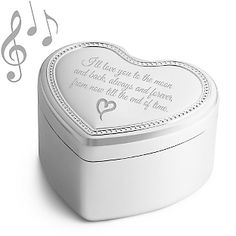 Personalized Heart Beaded Music Box , Add Your Message