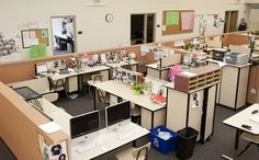 Ten desks in a pod, 10 pods in a house.  What a wonderful way to organize a school!