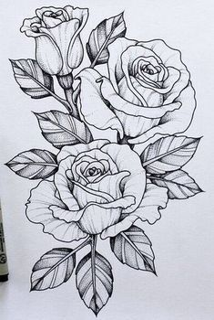 Should maybe add this piece to my skull n rose tattoo #FlowerTattooDesigns #RoseTattooIdeas