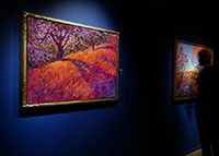 Maple Path - Contemporary Impressionism Art Gallery in San Diego - Modern Landscape Oil Paintings for Sale by Erin Hanson