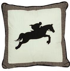 Hunter Jumper Equestrian Pillow Pillows - Equestrian - Pillows - Equestrian at Horse and Hound Gallery