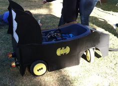 Batmobile wagon that Sadie and I made for the Buddy Walk!