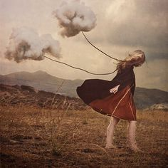 something to think about - photograph by brooke shaden | Watch this documentary on her: http://www.lynda.com/Photography-Masking-Compositing-tutorials/Brooke-Shadens-Conceptual-Photography-Start-Finish/140846-2.html?utm_source=pinterest.com