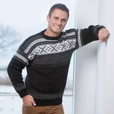 Genser Setesdal - Viking of Norway Merino Wool, Vikings, Norway, Knitwear, Men Sweater, Knitting, Boys, Jumpers, Fashion