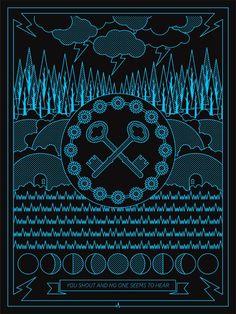 Dark Side Of The Moon Poster Art by Stewart Scott-Curran